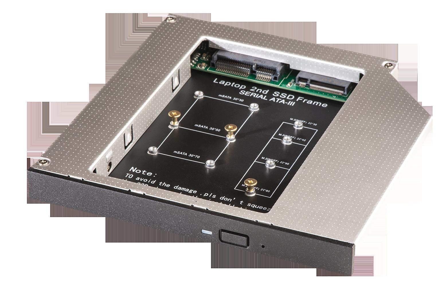 mSATA & M.2 SSD Adapter f�r Slimlaufwerk 12,7mm