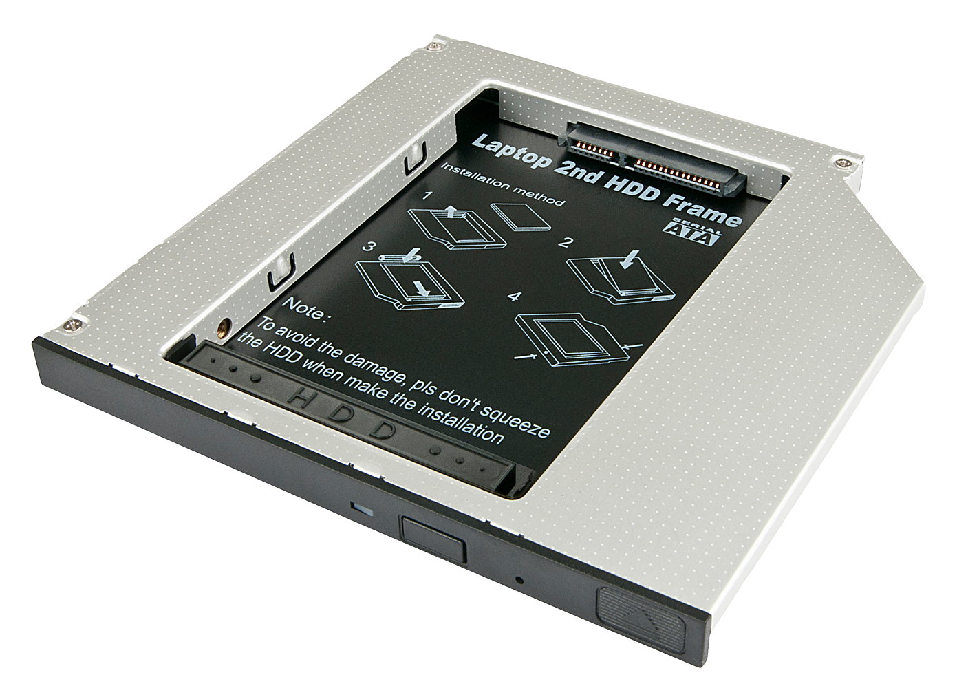 SATA SSD/HDD Adapter für CD/DVD/BD-Ultra-Slimlaufwerk 9,5mm
