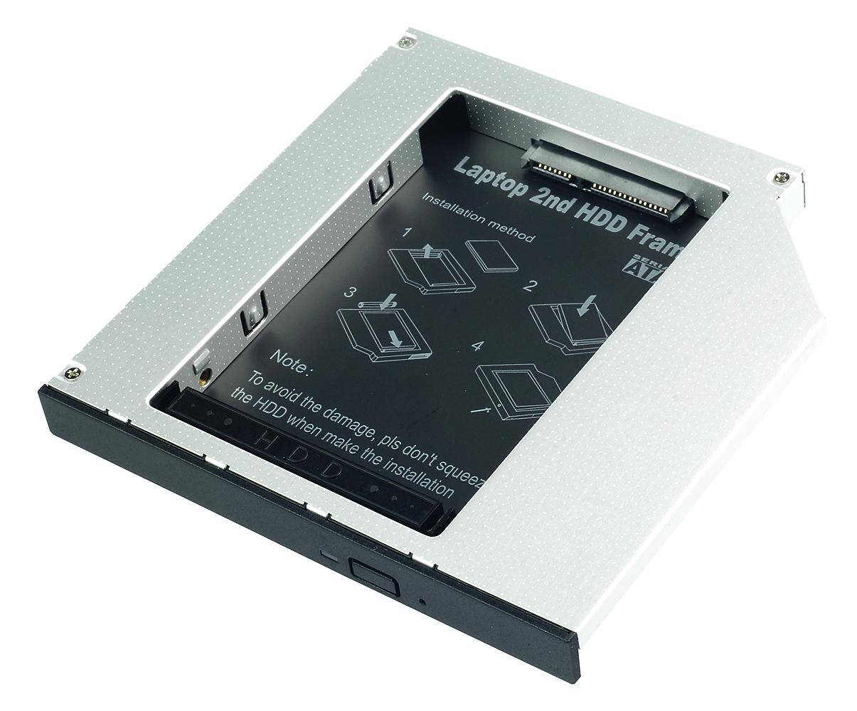 SATA SSD/HDD Adapter für CD/DVD/BD-Slimlaufwerk 12,7mm