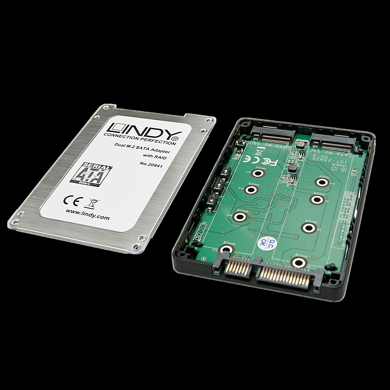 Dual M.2 SSD RAID Geh�use, SATA 2,5\