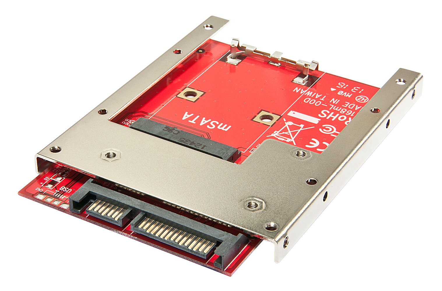 mSATA auf SATA Adapter mit 2,5\ Einbaurahmen 7mm