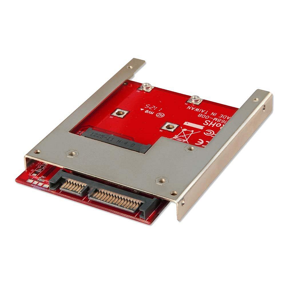 mSATA auf SATA 2,5 Adapterrahmen 9,5mm für mSATA SSDs