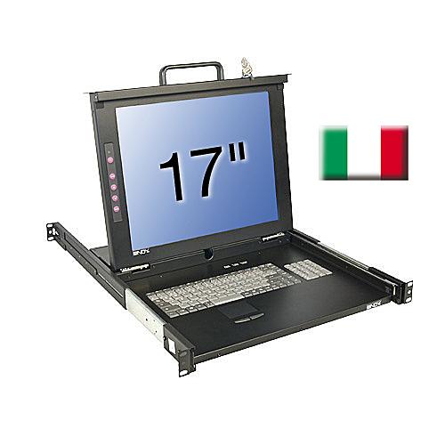 17\/43,2cm LCD KVM Terminal CLASSIC, IT layout