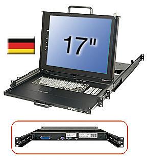 17\/43,2cm LCD KVM Terminal PRO, DE layout