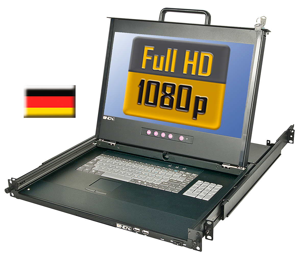 17\/44cm LCD KVM Terminal PRO Full HD DVI-I, USB 2.0, DE Layout