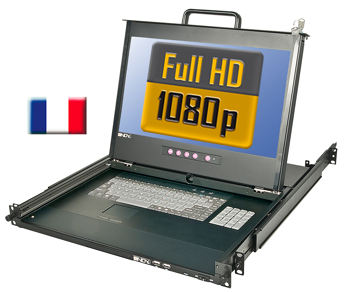 17/44cm LCD KVM Terminal PRO Full HD DVI-I, USB 2.0, FR Layout