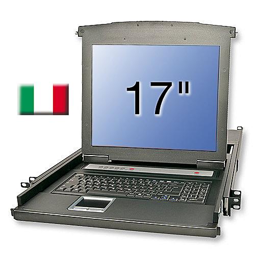 KVM Terminal Basic mit 17&quot/43,2cm LCD, IT Tastaur