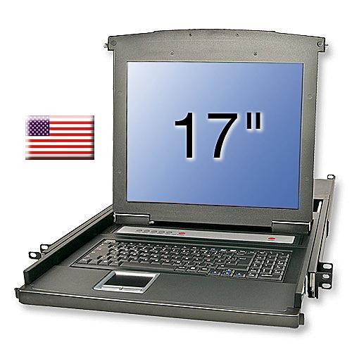 KVM Terminal Basic mit 17/43,2cm LCD, US Tastaur