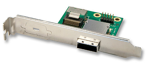 Mini SAS Slotblechadapter Host 1x SFF8087 (intern) auf 1x SFF8088 (extern)