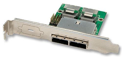 Mini SAS Slotblechadapter Host 2x SFF8087 (intern) auf 2x SFF8088 (extern)