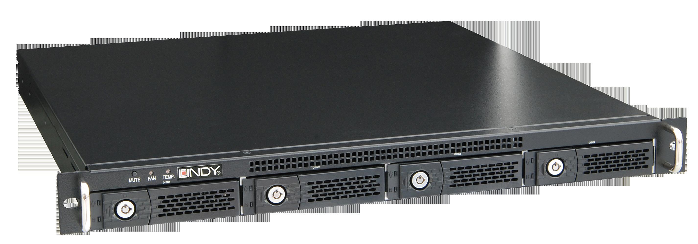 SAS/SATA RAID Storage System 19 1HE 4 Bay Festplattenarray