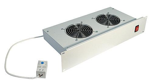 19 Belüftungseinheit mit 2 Ventilatoren für LINDY 19 Standschränke und Wandgehäuse