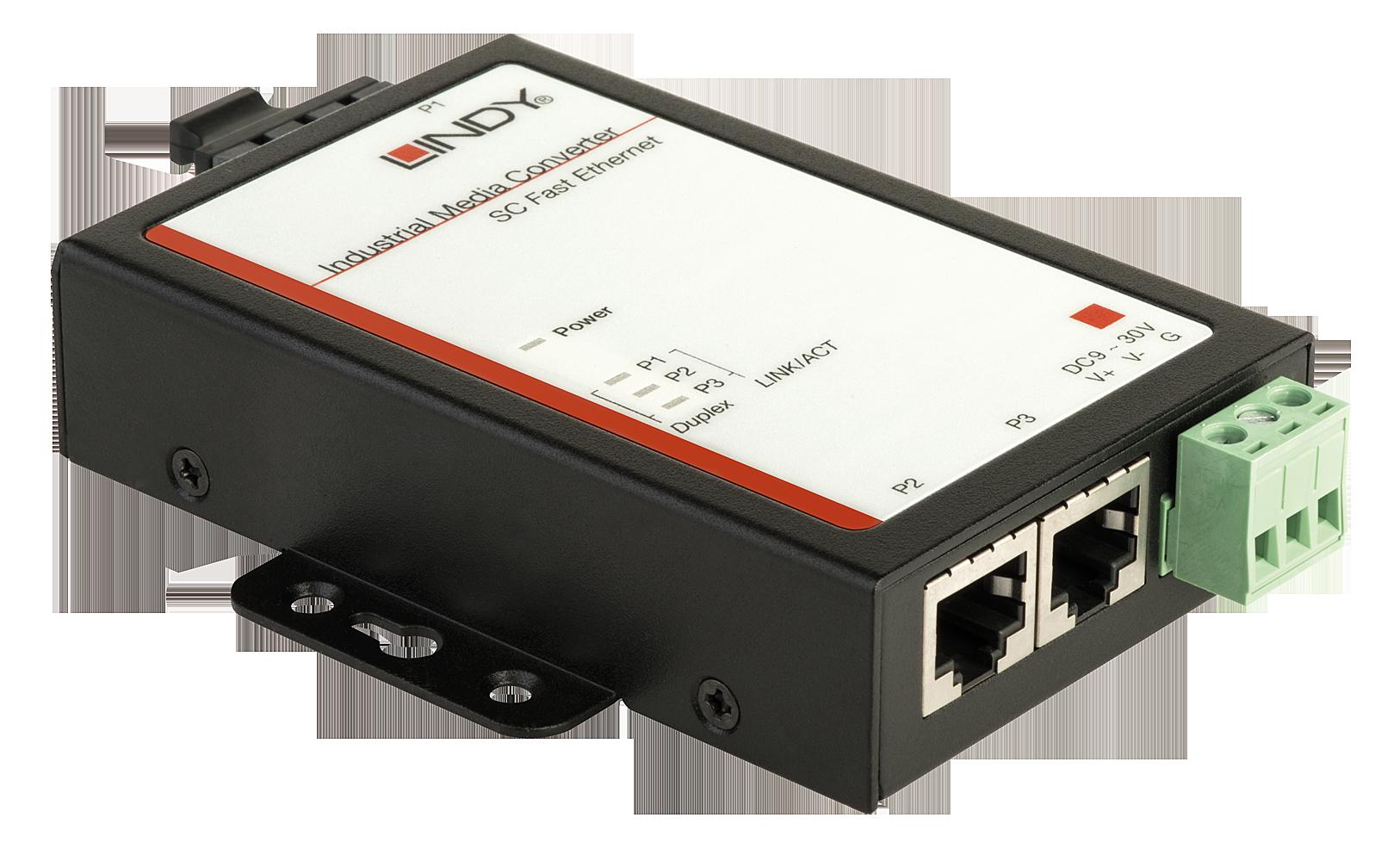 Ethernet-Media-Konverter 10/100Mbit/s - 100Base-FX für den Schaltschrank