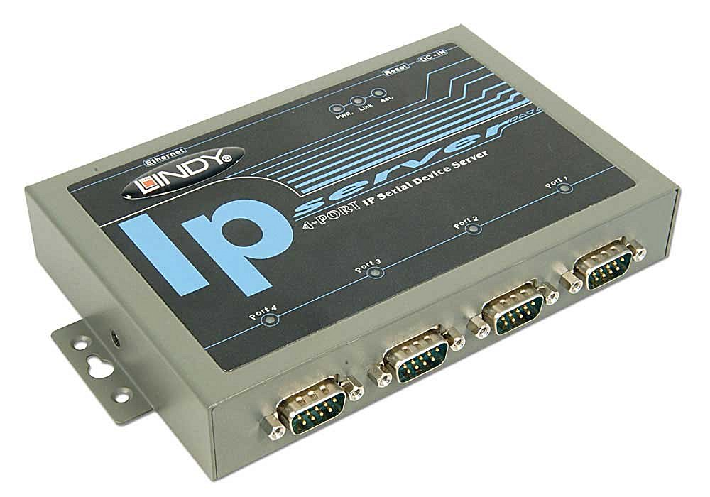 IP Serial Server RS-232/RS-422/RS-485 mit 4 Ports