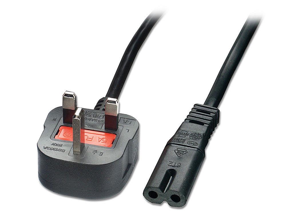 UK Netzkabel 2m, UK-Stecker and Fig.8 Anschluss