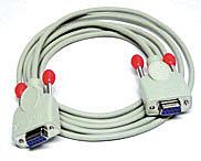 Kabel für Chipkartenleser 9 pol. 1:1 Kupplung/Kupplung 2m