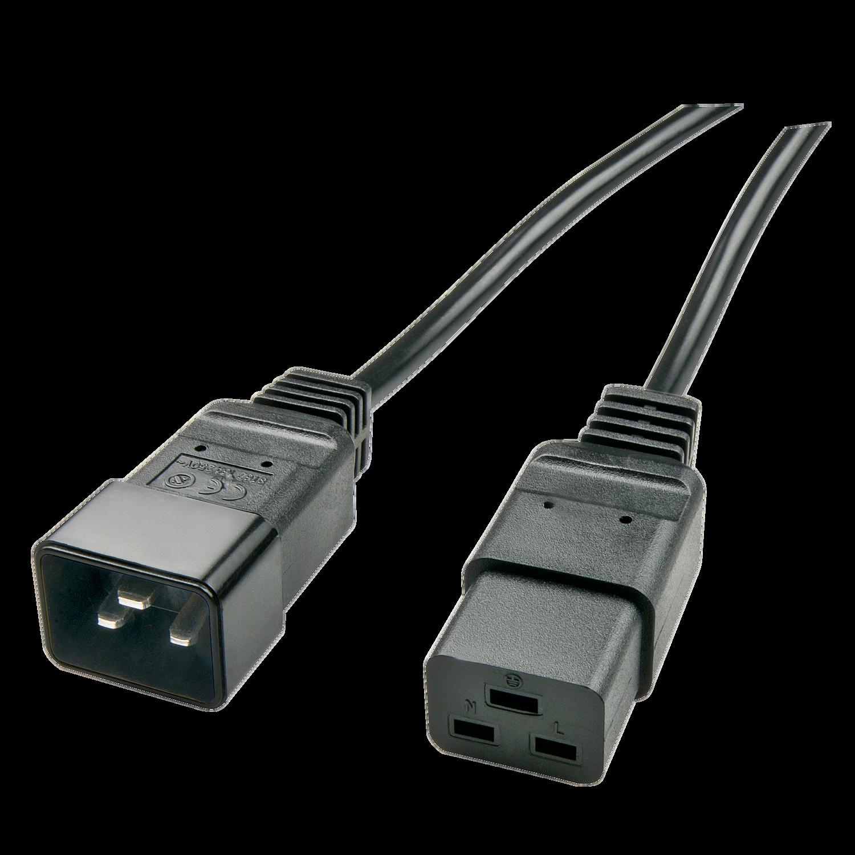 2.5m IEC C19 auf IEC C20 Verlängerungskabel