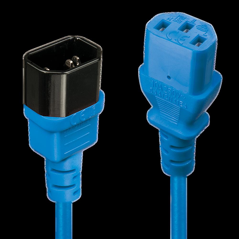 IEC Verlängerung, blau, 1m
