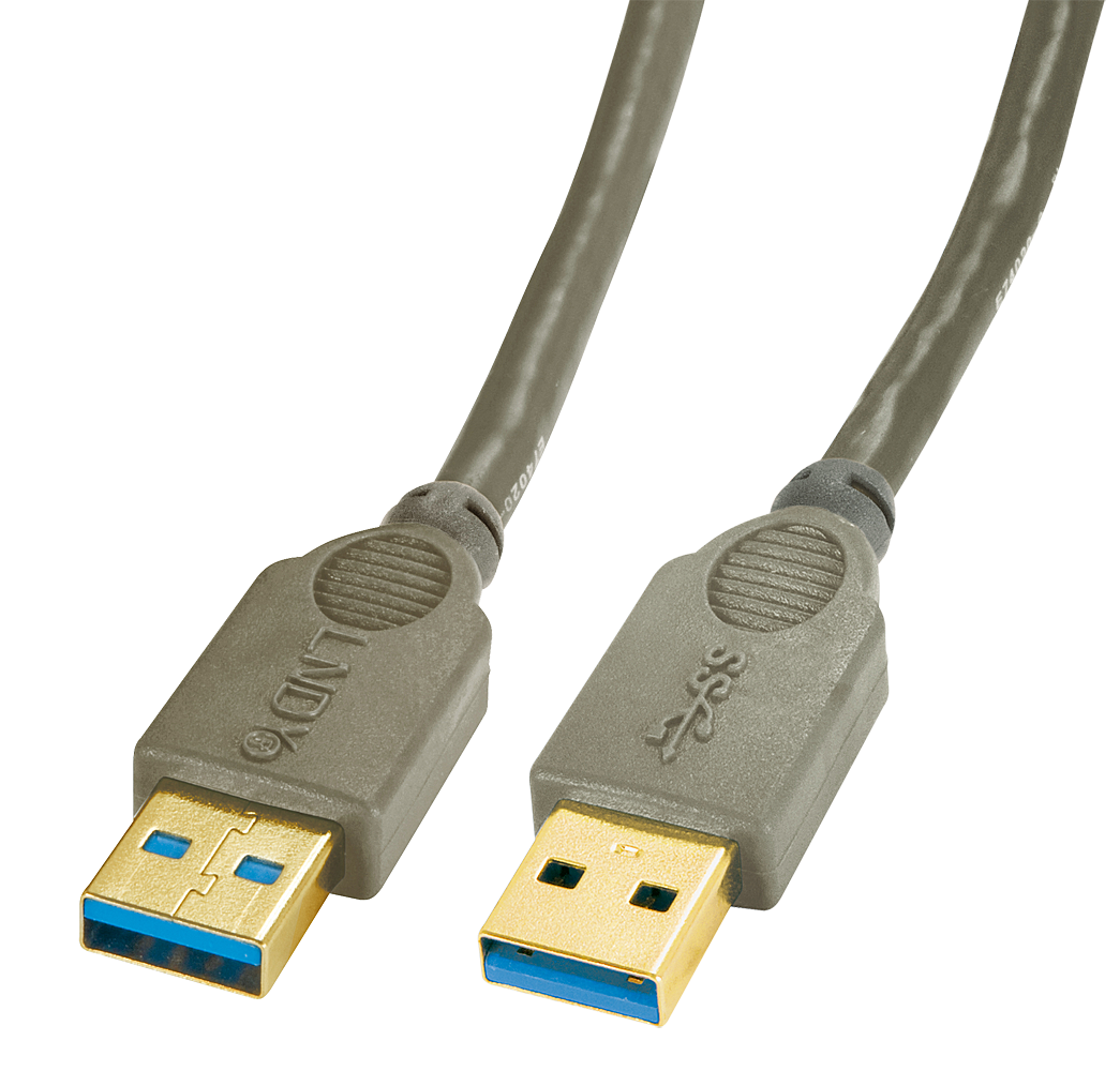 USB 3.0 Kabel Typ A/A anthrazit, 1m