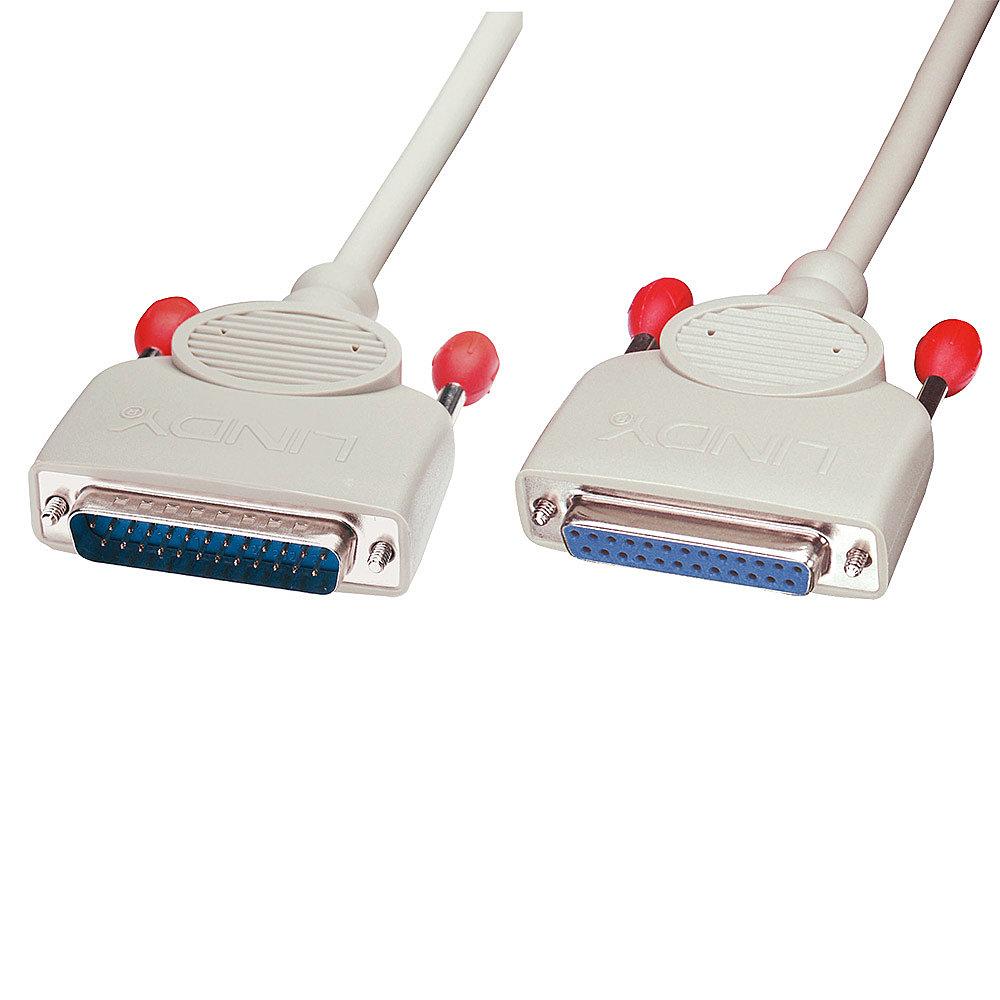 RS232 Verlängerungskabel 1:1, 25 pol. Sub-D Stecker an 25 pol. Sub-D Kupplung, 5m