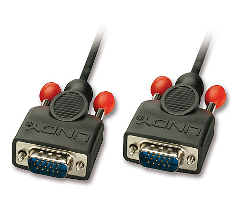 VGA-Anschlusskabel ohne Ferritkerne, 15-pol. HD Stecker/Stecker 1m