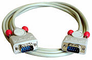 9 pol. RS232 1:1 Kabel mit 9 pol. Sub-D Stecker an 9 pol. Sub-D Stecker, 2m