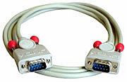 RS232 Kabel 9 pol. Sub-D Stecker an 9 pol. Sub-D Stecker, 1:1, 3m
