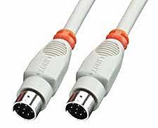 Anschlusskabel Mac Drucker 8 polig Mini-DIN Stecker/Stecker, 2m