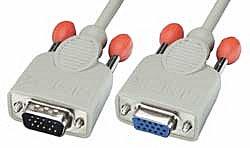 VGA Verlängerungskabel 3m, 15 pol. HD Stecker/Kupplung 3m