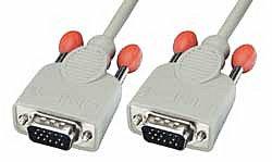 VGA-Anschlusskabel 15 pol. HD Stecker/Stecker 1m
