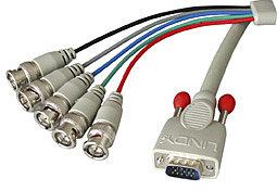 VGA Anschlusskabel 15 pol. HD Stecker/BNC Stecker 5m