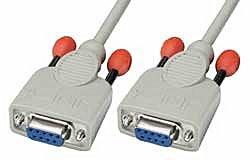 Nullmodem-Kabel 9 pol. Kupplung/Kupplung 3m