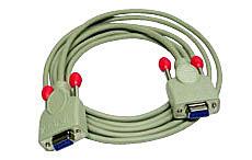 -Nullmodem-Kabel 9 pol. Kupplung/Kupplung 5m