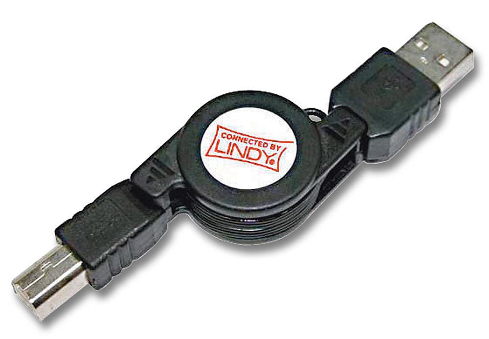 Verlängerungskabel USB 2.0 Typ A/B aufrollbar