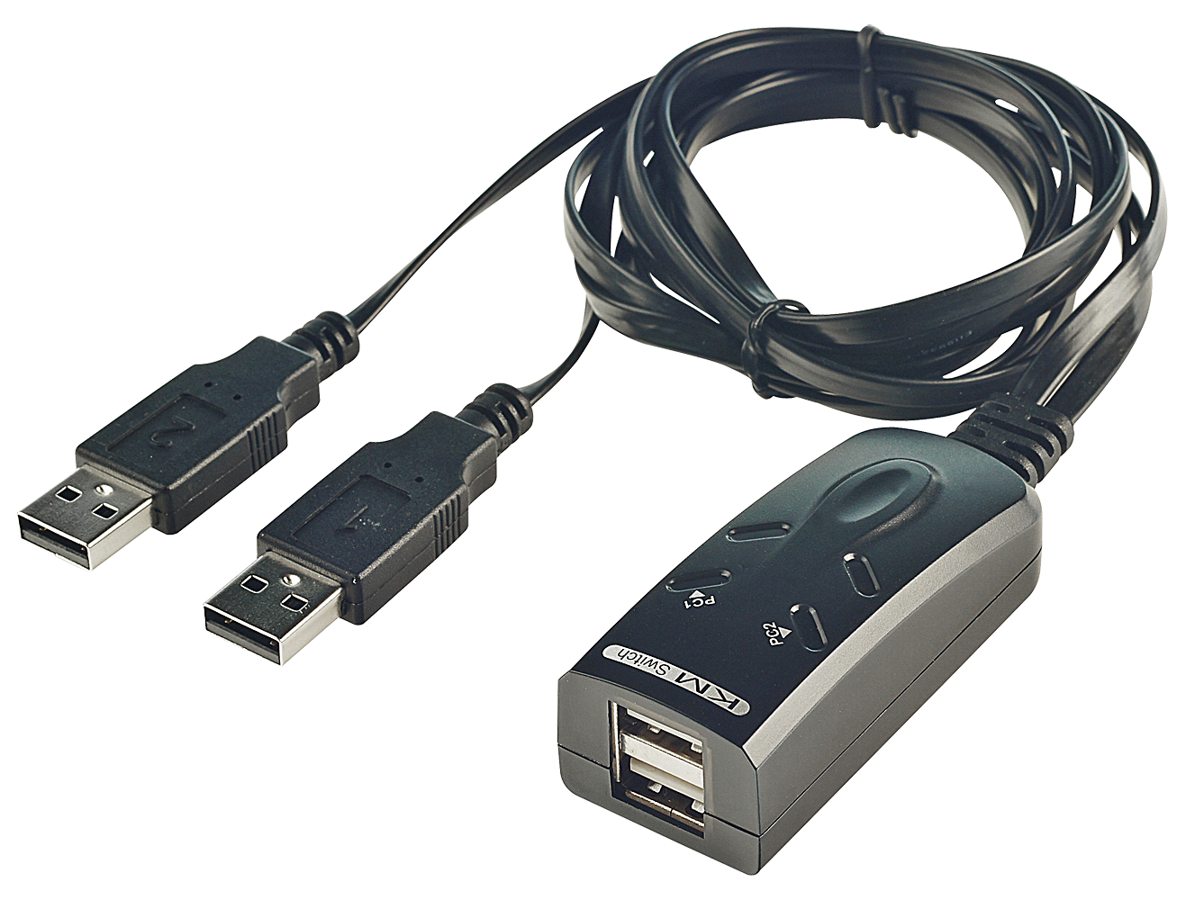 KM Tastatur & Maus Switch USB f�r 2 Rechner