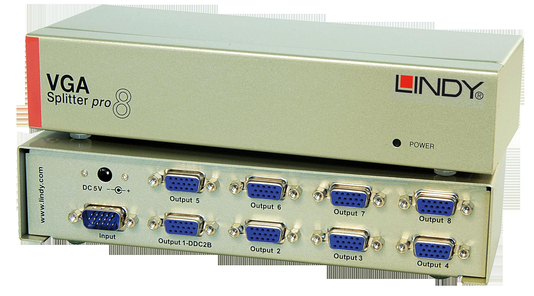 VGA Splitter PRO, 8 Port