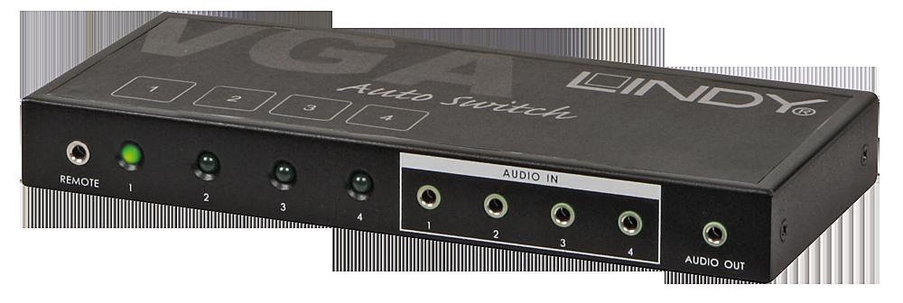 VGA & Audio Selektor 4:1