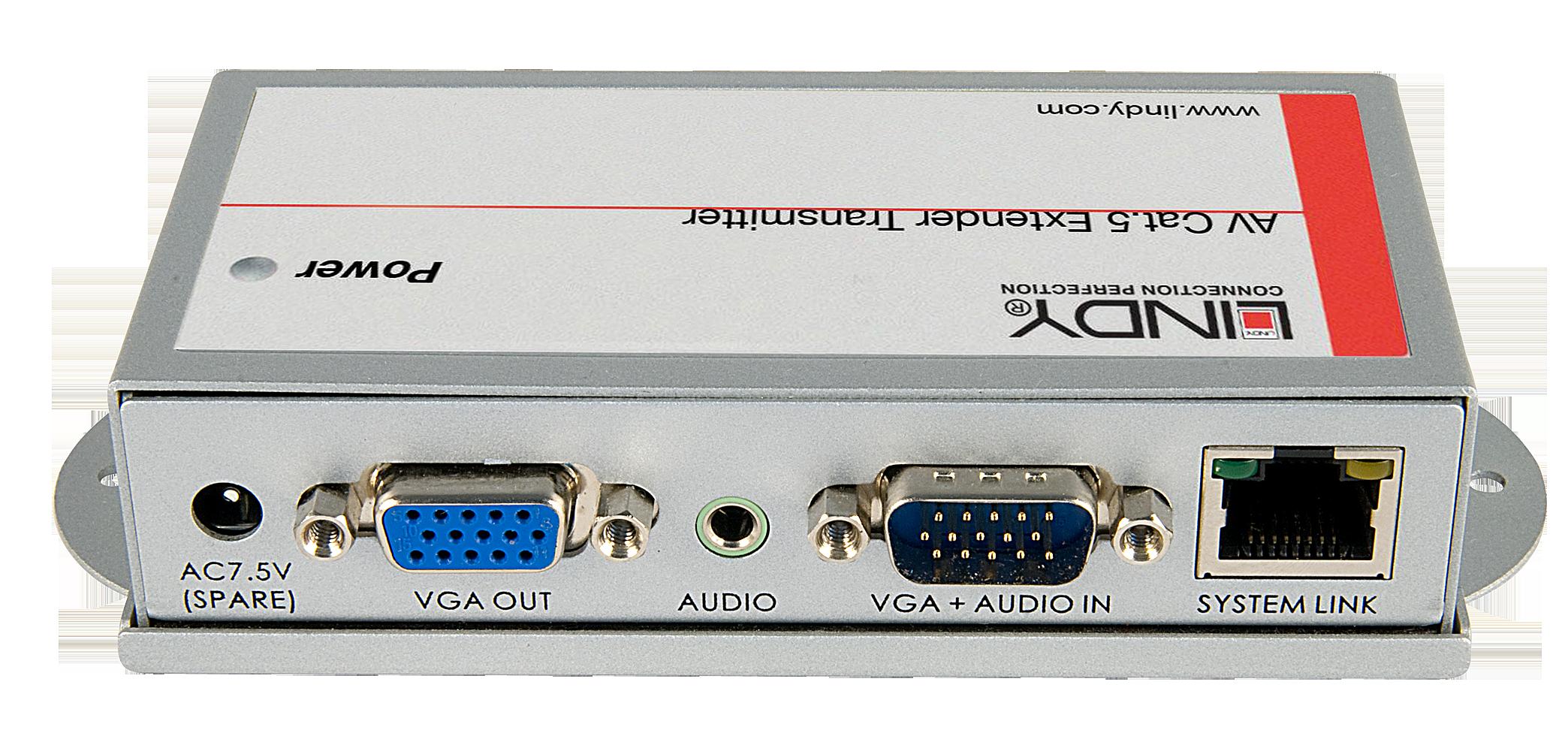AV Cat.5/6 Extender Transmitter PRO - VGA & Audio bis 250m