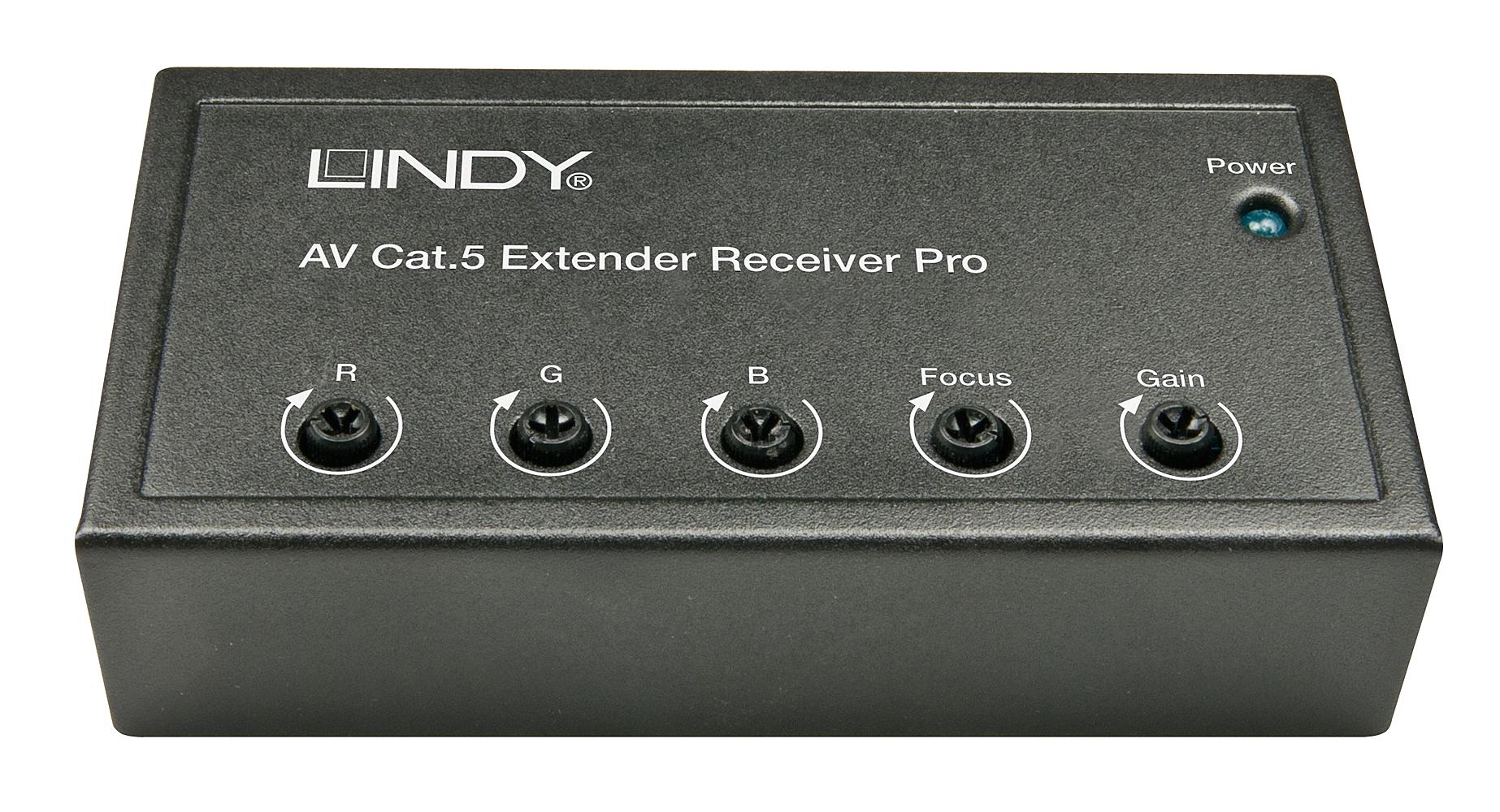 AV Cat.5/6 Receiver Pro - VGA hochauflösend & Audio bis 1920x1200@300m