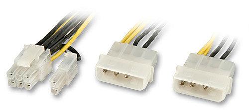 Internes Stromadapterkabel SLI-Grafik- für und PCIe-Karten mit 6poligem oder 8poligem Stromanschluss