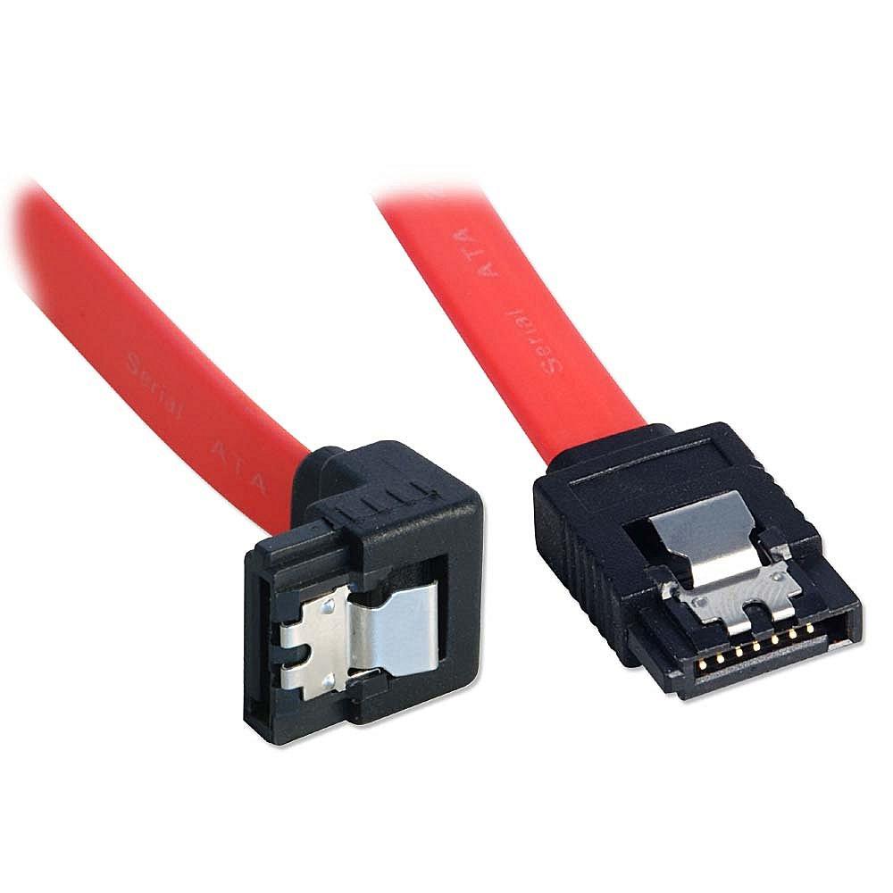 Internes SATA Kabel mit abgewinkeltem Stecker, Latch-Typ Stecker, 0,7m