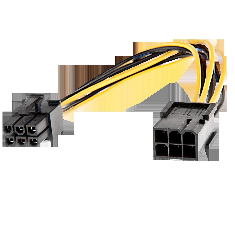 6 pol. Stecker/Kupplung PCIe Stromadapter