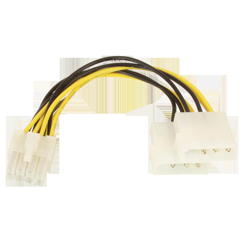 4 pol. Molex an 8 pol 12V Stromadapter