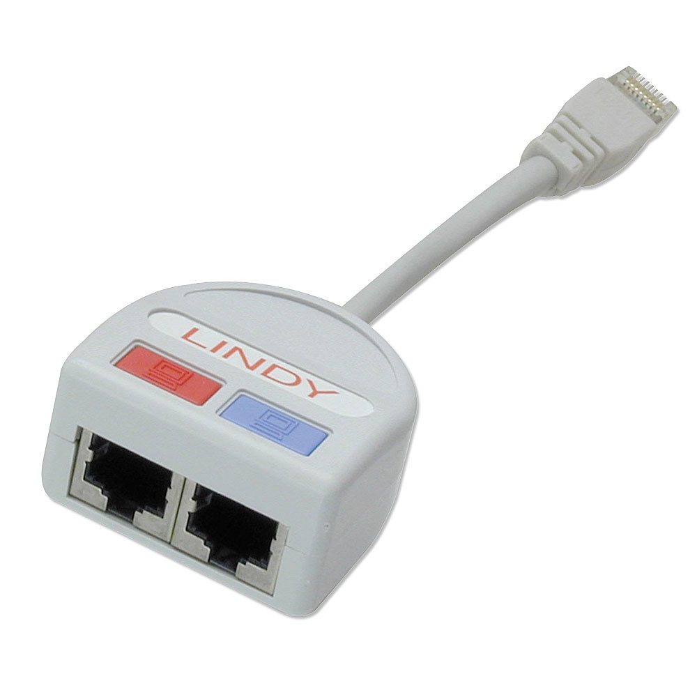 Port Doubler STP 1x Fast Ethernet 10/100 + 1x Telefon/Token Ring über ein 8-adriges Kabel