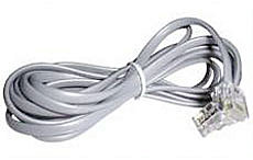 RJ-10 4/4 Kabel Stecker/Stecker 5m