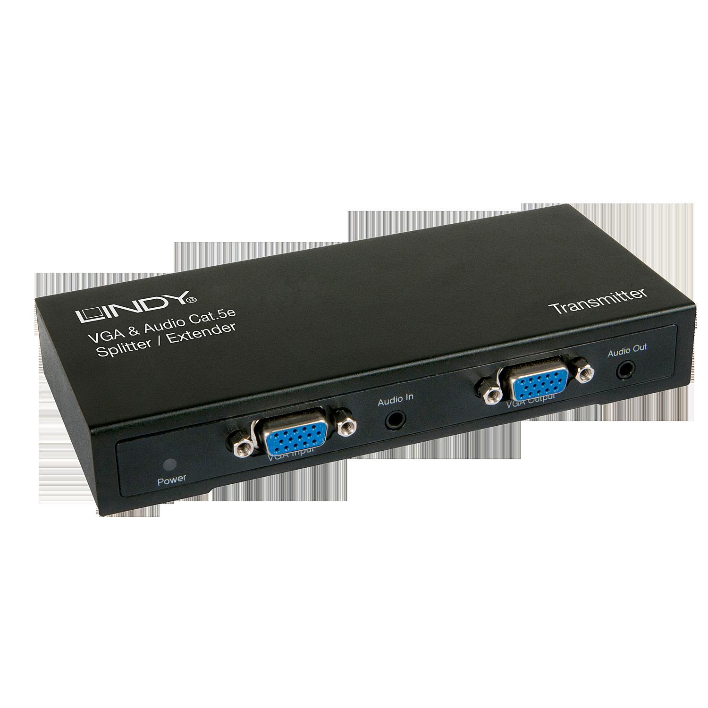 VGA & Audio Cat.5e Extender 300m 4 Ports - Transmitter