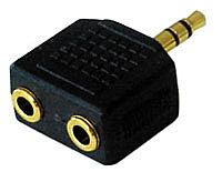 Audioadapter Stereo, 3,5mm Klinkenstecker an 2x 3,5mm Klinkenbuchse