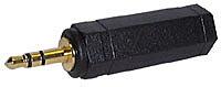 Audioadapter Stereo, 3,5mm Klinkenstecker an 6,3mm Klinkenbuchse