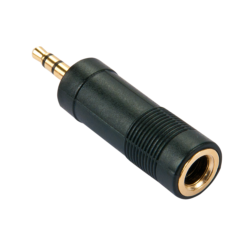 Stereo Audio-Adapter, 3.5mm Klinkenstecker an 6.3mm Klinkenbuchse