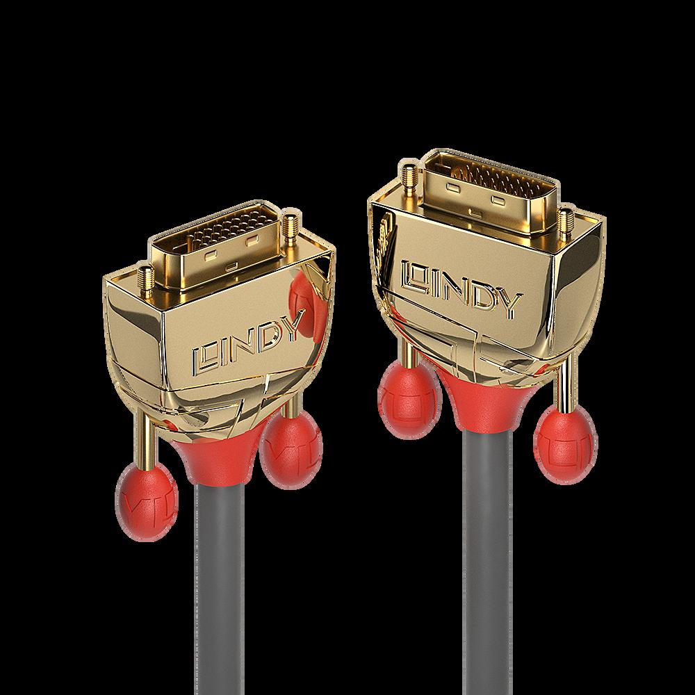 Lindy 10m DVI-D Dual Link Kabel Gold Line Digital Stecker 24+1 - Kabel - Digital/Display/Video